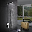 abordables Grifos de Ducha-Grifo de ducha - Moderno / Contemporáneo Cromo Sistema ducha Válvula Cerámica / Latón