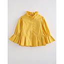 cheap Bakeware-Girls' Solid Blouse, Cotton Fall Long Sleeves Yellow