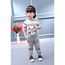 cheap Boys' Clothing Sets-Toddler Boys' Cartoon / Stripes Solid Colored / Stripe / Other Long Sleeve Cotton Clothing Set