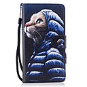 cheap Memory Cards-Case For Huawei P10 Lite Card Holder Wallet with Stand Flip Magnetic Pattern Full Body Cases Cat Hard PU Leather for P10 Lite P8 Lite