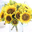 levne Samolepky na zeď-Umělé květiny 7 Větev Evropský Slunečnice Květina na stůl