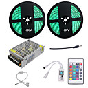 cheap Night Lights-HKV 10m Light Sets 600 LEDs 5050 SMD RGB Cuttable / Dimmable / Waterproof 110-220 V 1set / IP65 / Linkable / Self-adhesive / Color-Changing