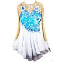 cheap Bakeware-Figure Skating Dress Women's / Girls' Ice Skating Dress Pale Blue Spandex Rhinestone / Appliques High Elasticity Performance Skating Wear