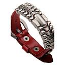 cheap Men's Bracelets-Men's Chain Bracelet Leather Bracelet - Leather Fashion Bracelet Orange / Brown / Red For Casual Going out