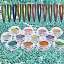 cheap Nail Glitter-1set / 12pcs Acrylic Powder Glitter Powder 12 Colors nail art Manicure Pedicure Mirror Effect / Sparkle & Shine / Laser Holographic