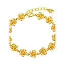 cheap Men's Rings-Women's Chain Bracelet - Gold Plated Floral / Botanicals, Flower Luxury Bracelet Gold For Wedding / Gift