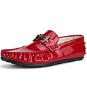 cheap Men's Slip-ons & Loafers-Men's Formal Shoes Patent Leather Summer / Fall Loafers & Slip-Ons White / Black / Red / Party & Evening