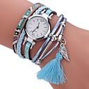 cheap Men's Bracelets-Women's Bracelet Watch / Simulated Diamond Watch Chinese Imitation Diamond PU Band Charm / Casual / Bohemian Black / White / Blue