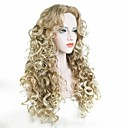 cheap Synthetic Capless Wigs-Synthetic Wig Curly Blonde Synthetic Hair Blonde Wig Women's Long Capless