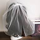 cheap Wedding Veils-Two-tier Cut Edge Wedding Veil Blusher Veils 53 Ruffles Tulle