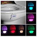billige Originale lamper-bad toalett nattlys led kroppsbevegelse aktivert på / av sete sensor lampe pir toalett natt lys lampe