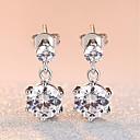 cheap Earrings-Women's AAA Cubic Zirconia Drop Earrings - Cubic Zirconia Fashion, Elegant Silver For Wedding Evening Party