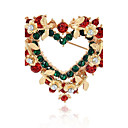 cheap Rings-Synthetic Diamond Brooches - Heart Fashion Brooch Assorted Color For Christmas / Gift