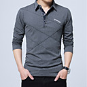 cheap Bag Sets-Men's Work Active Cotton Slim Polo - Solid Colored Basic Shirt Collar / Long Sleeve