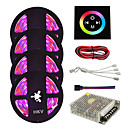 cheap LED Strip Lights-HKV 20m Light Sets 1200 LEDs 3528 SMD RGB Cuttable / Dimmable / Waterproof 110-220 V 1set / IP65 / Linkable / Self-adhesive / Color-Changing