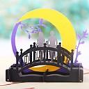baratos Convites de Casamento-Dobrado de Lado Convites de casamento 1 - Convites para Festas de Noivado Estilo Moderno Papel com Relevo