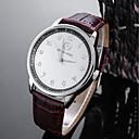 preiswerte Sportuhr-Herrn Armbanduhren für den Alltag Sportuhr Modeuhr Quartz Schwarz / Braun Wasserdicht Kreativ Analog Freizeit Elegant - Weiß Schwarz / Edelstahl
