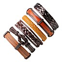 cheap Men's Bracelets-Men's / Women's Wrap Bracelet / Leather Bracelet - Leather Bohemian, Fashion Bracelet Coffee For Gift / Going out