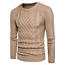 cheap Men's Boots-Men's Cute Street chic Long Sleeves Pullover - Solid Colored Round Neck
