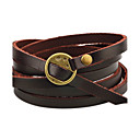 cheap Men's Bracelets-Men's Women's Leather Bracelet - Leather Personalized, Simple Style Bracelet Coffee / Brown For Casual Stage