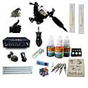 abordables Kits de Tatouage pour Débutants-BaseKey Machine à tatouer Kit pour débutant - 1 pcs Machines de tatouage avec 1 x 5 ml encres de tatouage, Professionnel LCD alimentation