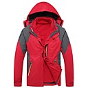 cheap Softshell, Fleece & Hiking Jackets-Men's Hiking Jacket outdoor Autumn / Fall Winter Windproof Rain-Proof Thermal / Warm Breathability Wearable Thick Hiking Jackets Camping & Hiking Apparel & Accessories Activewear Polyester 3-in-1