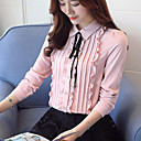 billige Mørkleggingsgardiner-Skjortekrage Bluse Dame - Ensfarget Arbeid
