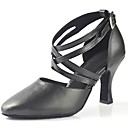 cheap Wedding Shoes-Women's Modern Shoes Leatherette Sandal / Heel Buckle Customized Heel Customizable Dance Shoes Black / Professional