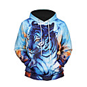 cheap Men's Athletic Shoes-Men's Long Sleeves Hoodie - 3D Print Hooded