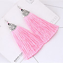 cheap Earrings-Women's Tassel Drop Earrings - Tassel, Fashion Blue / Pink / Rainbow For Party Daily