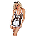 cheap Sexy Uniforms-Women's Maid Costume Nurse Sex Cosplay Costume Color Block Skirt Garters
