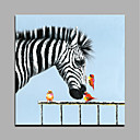cheap Animal Paintings-Oil Painting Hand Painted - Animals Modern Style Rolled Canvas