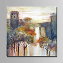 cheap Floral/Botanical Paintings-Oil Painting Hand Painted - Landscape Abstract Canvas