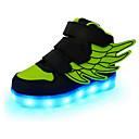 זול LED Shoes-בנים נוחות / חדשני / נעליים זוהרות עור נעלי ספורט ילדים קטנים (4-7) / ילדים גדולים (7 שנים +) סקוטש / LED אדום / ירוק / כחול אביב / סתיו / גומי
