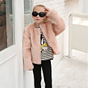 cheap Girls' Clothing Sets-Toddler Girls' Solid Colored Long Sleeve Wool / Rabbit Fur Jacket & Coat