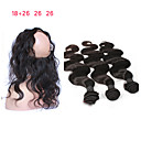 cheap One Pack Hair-Mongolian Hair Body Wave Remy Human Hair 3 Bundles with Closure Human Hair Weaves 8a Human Hair Extensions