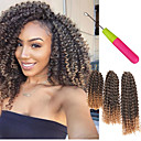 cheap Hair Braids-Braiding Hair Curly / Afro / Crochet Twist Braids Synthetic Hair 3pcs / pack Hair Braids Short Jamaican Bounce Hair