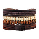 cheap Bracelets-Men's / Women's Strand Bracelet / Leather Bracelet - Leather Bohemian Bracelet Coffee For Casual / Going out