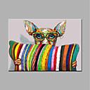 preiswerte Wand-Sticker-Hang-Ölgemälde Handgemalte - Pop - Art Modern Segeltuch