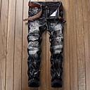 baratos Walkie Talkies-Homens Punk & Góticas Algodão Jeans / Chinos Calças - Sólido / Final de semana