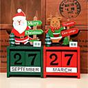 olcso Karácsonyi dekoráció-karácsonyi advent naptár santa claus hóember elk ajándékok karácsonyi dísztárgyak ház party fából készült naptár boldog új év dekoráció véletlenszerű színes