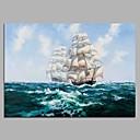 baratos Pinturas Paisagens-Pintura a Óleo Pintados à mão - Paisagem Artistíco Moderno / Contemporâneo Tela de pintura