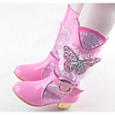 abordables Zapatos de Niña-Chica Zapatos PU microfibra sintético Invierno Otoño Botas de nieve Botas Mitad de Gemelo Para Casual Morado Azul Rosa