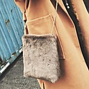 cheap Totes-Women's Bags Fur Shoulder Bag Feathers / Fur Black / Beige / Gray