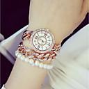 abordables Relojes de Moda-Mujer Reloj de Pulsera Japonés Acero Inoxidable Banda Encanto Plata / Dorado