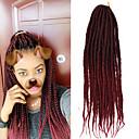 זול צמות שיער-שיער קלוע צמות תיבת הסרוגה שיער צמות שיער סינטטי 1pack שיער צמות ארוך צמות אומברה