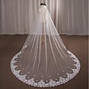 preiswerte Parykopfbedeckungen-Einschichtig Hochzeitsschleier Kathedralen Schleier mit Applikationen Spitze / Tüll / Engelschnitt / Wasserfall