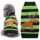 お買い得  着ぐるみパジャマ-ネコ 犬 セーター 犬用ウェア トナカイ グリーン アクリル繊維 コスチューム ペット用 男性用 女性用 キュート ファッション クリスマス