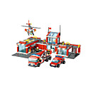 cheap Building Blocks-Building Blocks 774pcs Vehicles / Plane / Aircraft / Helicopter Fire Engine Vehicle / Helicopter Girls' Gift