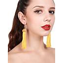 olcso Divat nyaklánc-Női Rojt Függők Francia kapcsos fülbevalók - Golyó Bojt Sárga / Bor Kompatibilitás Parti Napi